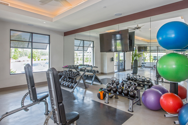 fitness center at Solis Waverly