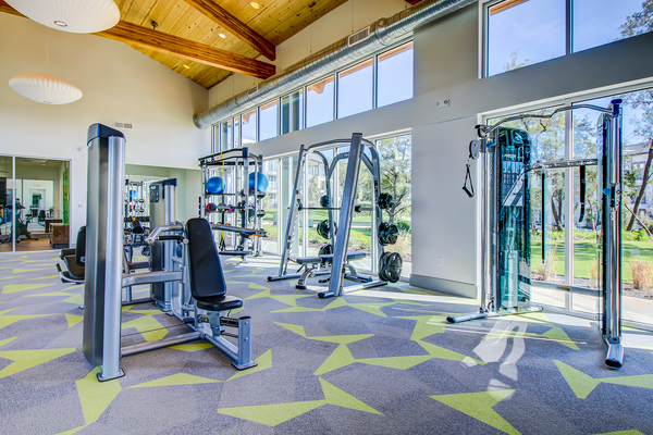 fitness center at Palo Verde Apartments