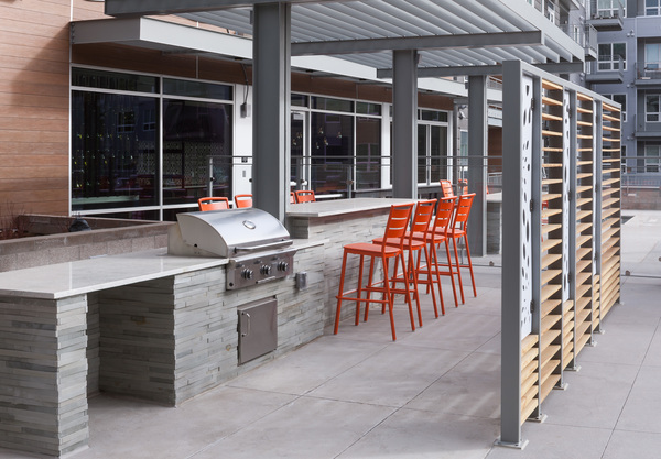 grill area at Alexan West Highland