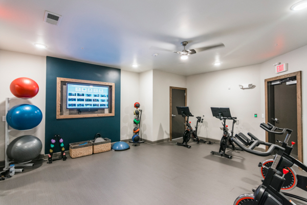 fitness center at Solis North Gulch Apartments