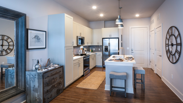 kitchen at Solis North Gulch Apartments