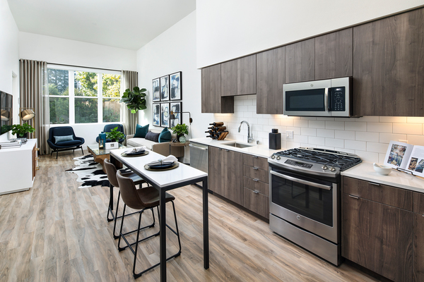 kitchen at Elan Mountain View Luxury Apartments