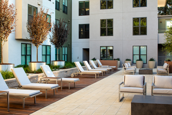 patio at Elan Mountain View Luxury Apartments