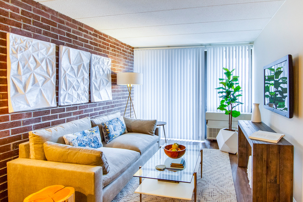 living room at Jefferson Hills Apartments, A Greystar Community