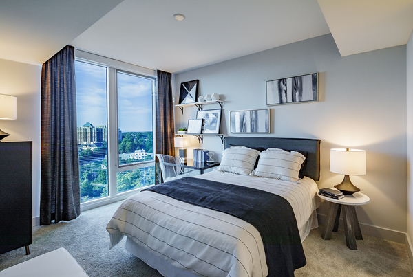 bedroom at Exo Apartments