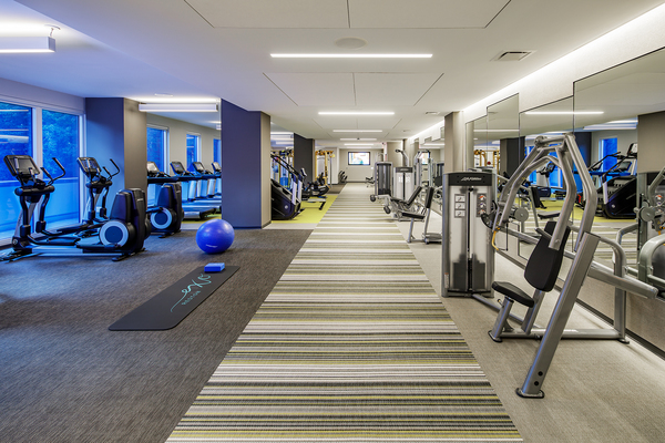 fitness center at Exo Apartments