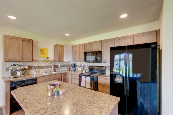 kitchen at Brookline Townhomes