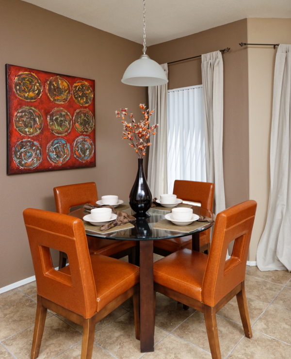 dining room at Finisterra Apartments