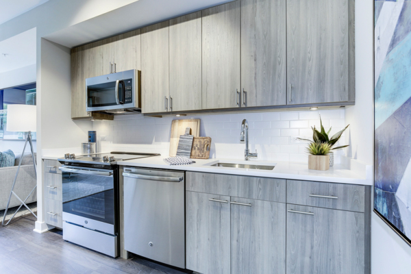 kitchen at Valo Apartments