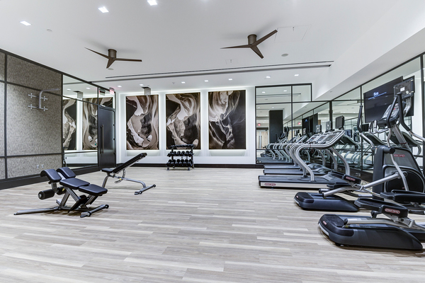 fitness center at Valo Apartments