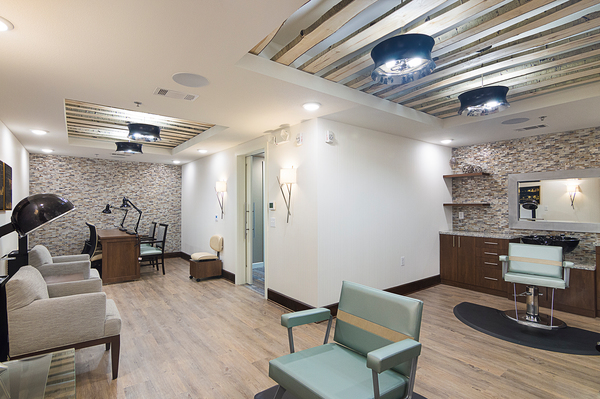 clubhouse salon at Overture Frisco Apartment Homes