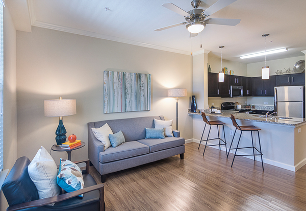 living room at Overture Frisco Apartment Homes