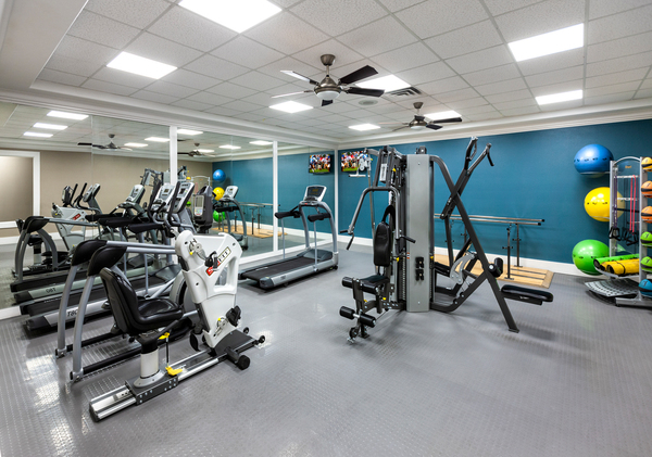 fitness center at Destinations Alexander Apartment Homes