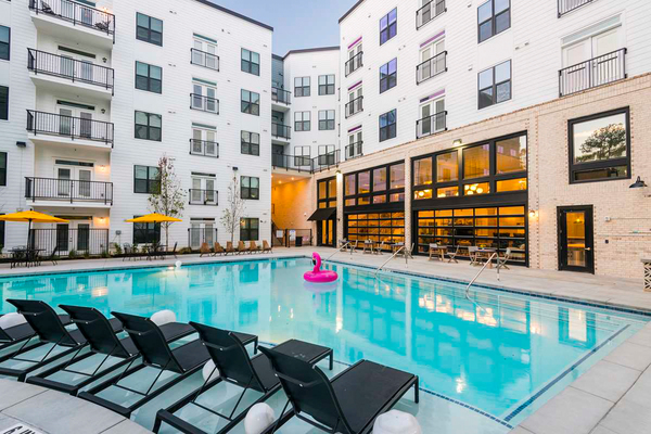 pool at The Oliver Apartments