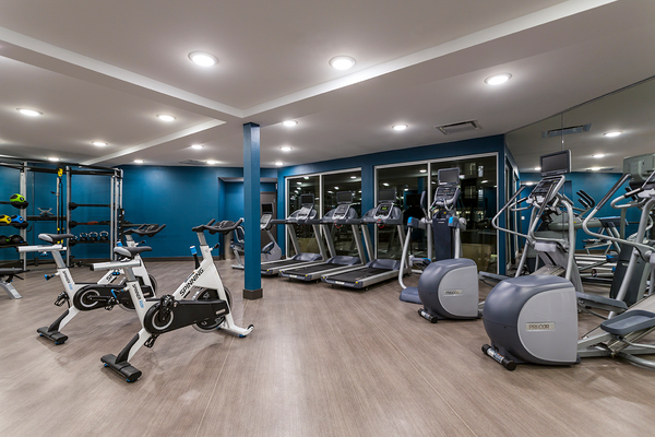 fitness center at Venue on 16th Apartments