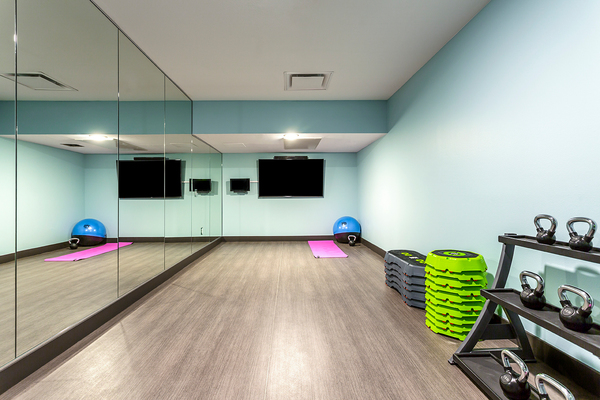 yoga/spin studio at Venue on 16th Apartments
