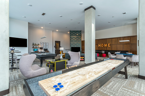game room at Venue on 16th Apartments
