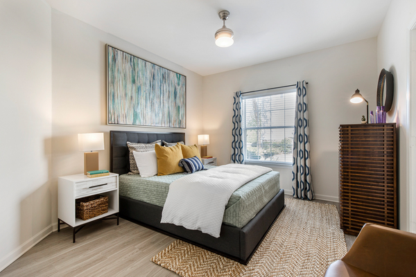 bedroom at Berkeley Place Apartments