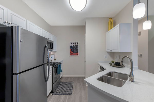 kitchen at Berkeley Place Apartments