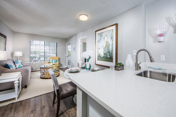 dining room at Overture San Marcos Apartment Homes