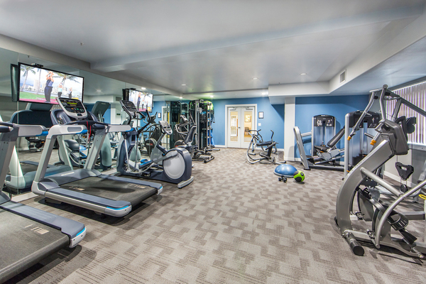 fitness center at Overture San Marcos Apartment Homes