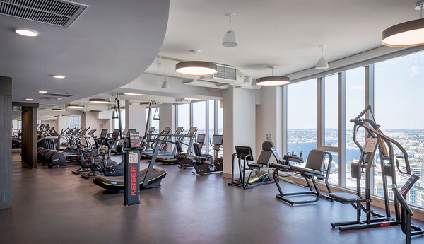 fitness center at McKenzie Apartments