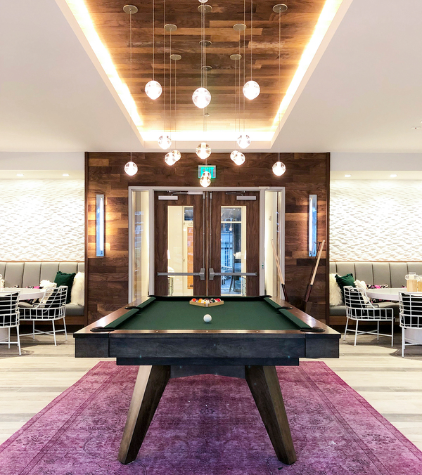 game room at Savoy Apartments