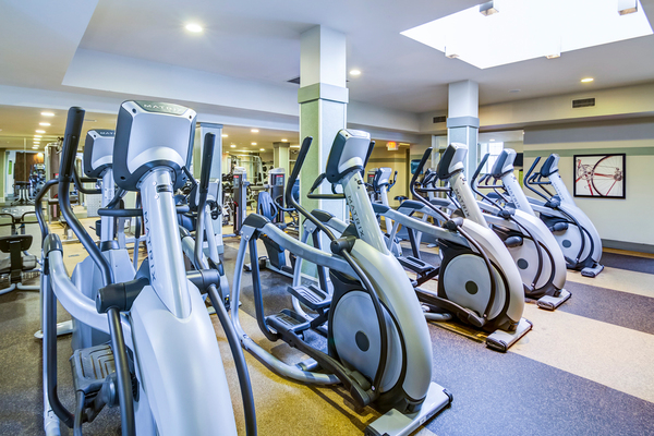 fitness center at Jefferson Hills Apartments, A Greystar Community