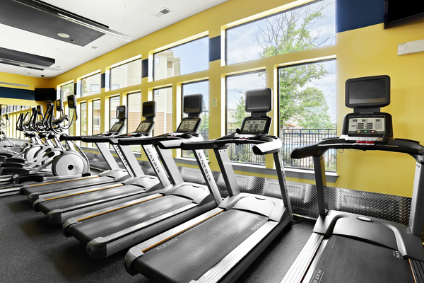 fitness center at Domain at Town Centre Apartments