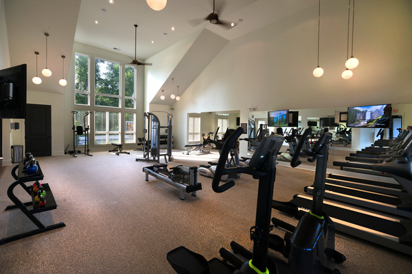 fitness center at Grand Oaks at Crane Creek Apartments