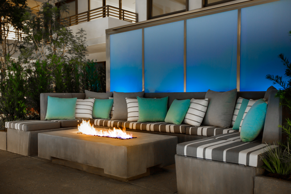 fire pit at Grey House Apartments