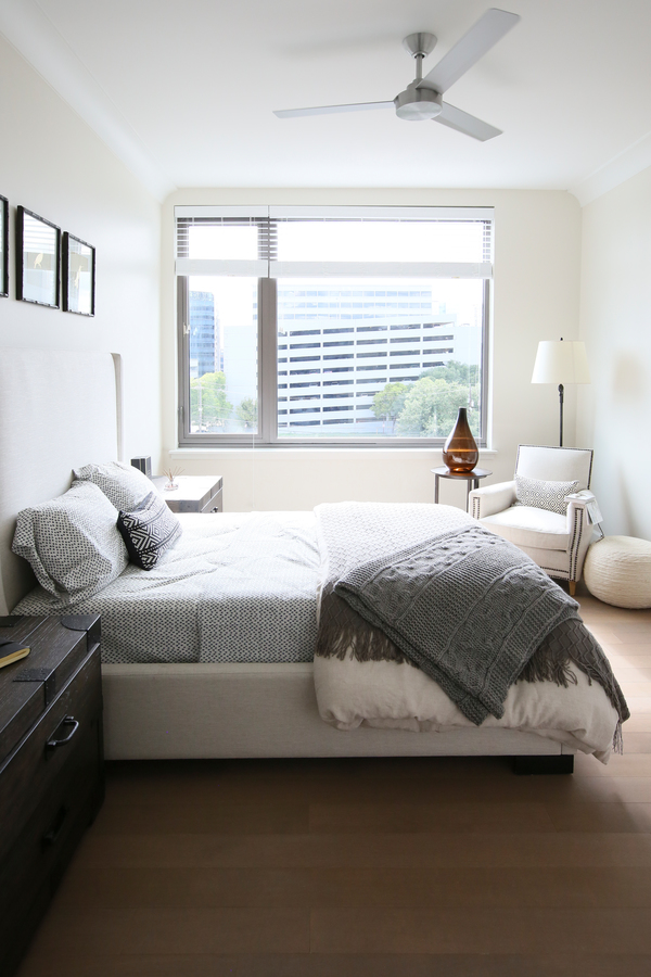 bedroom at Grey House Apartments