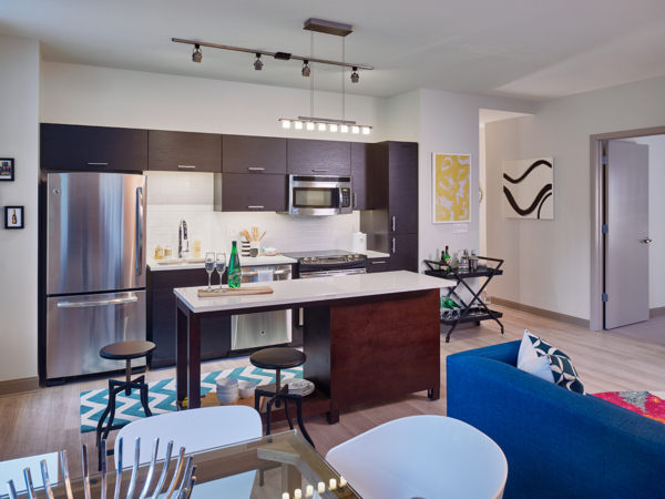 Kitchen at Griffin Center City Apartments