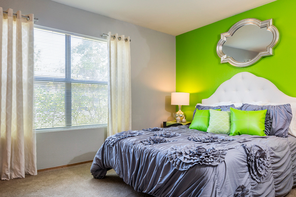 bedroom at TimberLane Village Apartments