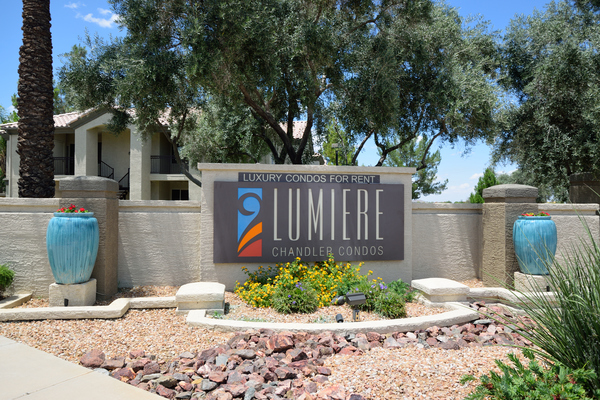 signage at Lumiere Chandler Condominiums