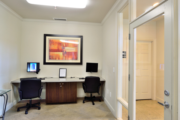 business center at Lumiere Chandler Condominiums