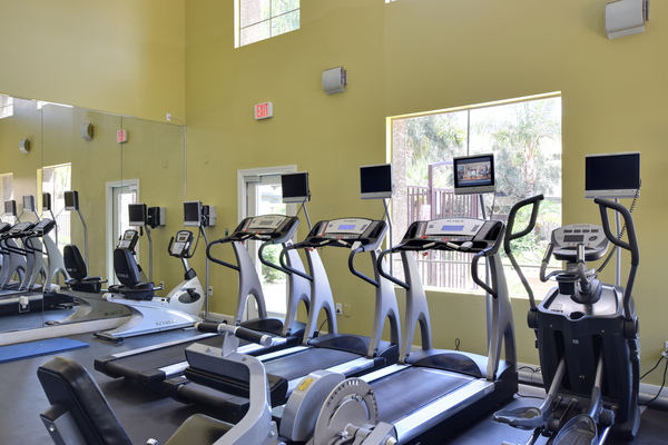 fitness center at Lumiere Chandler Condominiums