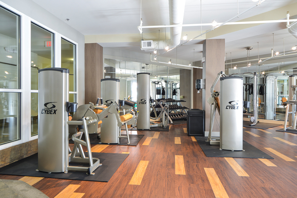fitness center at Avana Westside Apartments