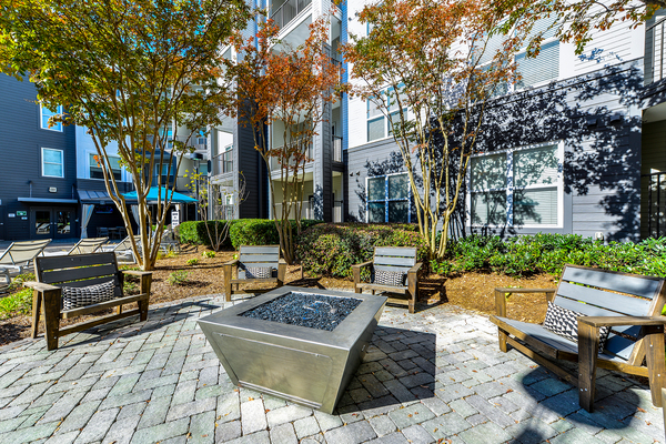 fire pit at Avana Westside Apartments