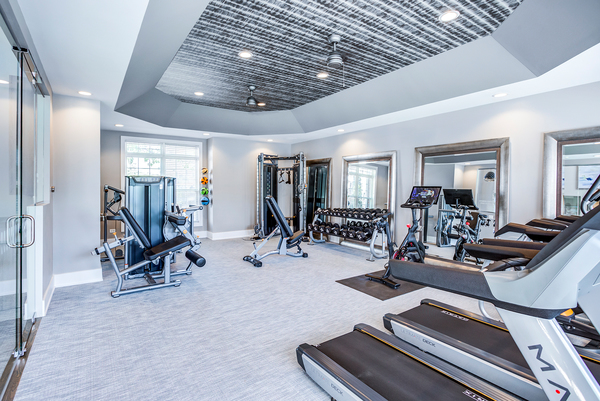fitness center at Retreat at Danada Farms Apartments