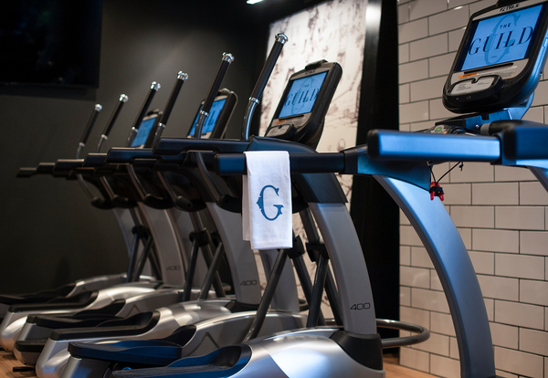 fitness center at The Guild Apartments