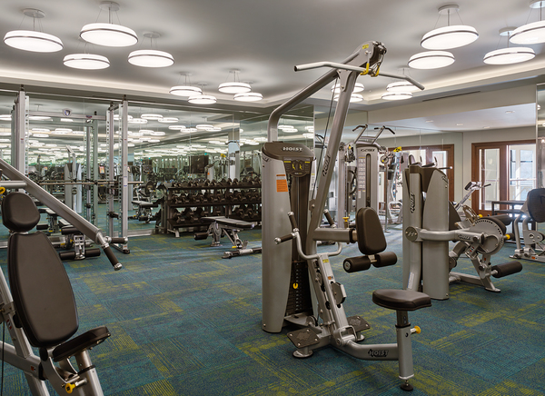fitness center at Griffin Center City Apartments
