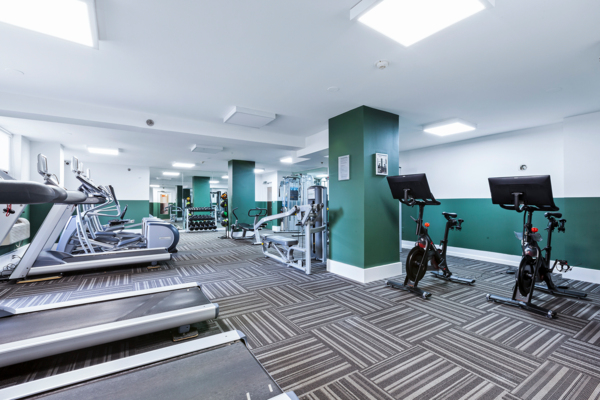 fitness center at Observer Park Apartments