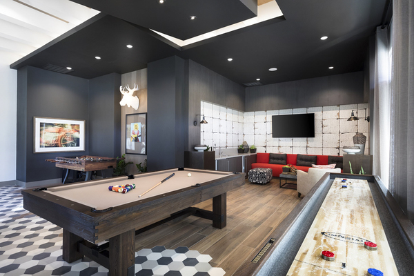 game room at Avila Apartments