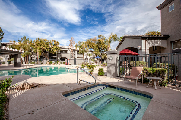 hot tub/jacuzzi at Sierra Canyon Apartments