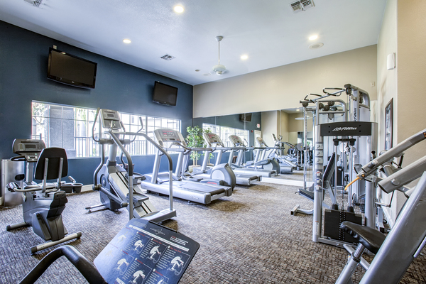fitness center at Sierra Canyon Apartments