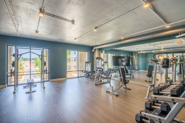 fitness center at Republic Flats