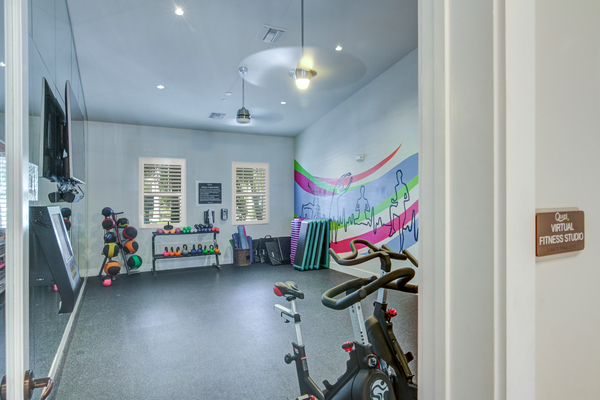 yoga/spin studio at The Quaye at Palm Beach Gardens Apartments