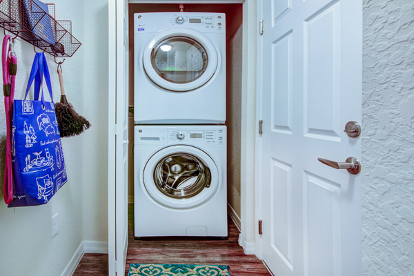 laundry room at The Quaye at Palm Beach Gardens Apartments