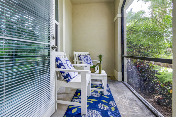 patio/balcony at The Quaye at Palm Beach Gardens Apartments